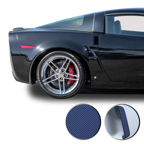 Door Handle Overlay Trim Wrap Vinyl Decal Compatible with and Fits Corvette 2005-2013