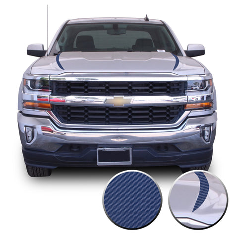 2016-2018 Chevy Silverado Hood Spears Stripes Solid