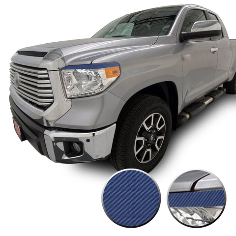 Headlight Eyelid Vinyl Cover Decal Overlay for 2014-2017 Toyota Tundra