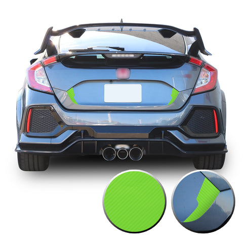 Trunk Overlay Fang Decal Compatible With and Fits 2016-2020 Civic Hatchback Si Type R