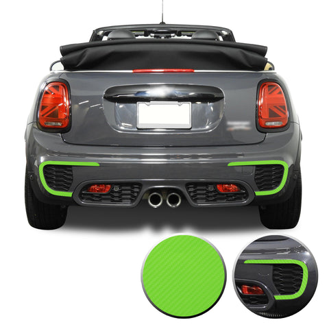 Rear Bumper Bezel Accent Vinyl Decal Overlay Wrap Compatible with John Cooper Works F56 F57 F55 Mini 2015-2020