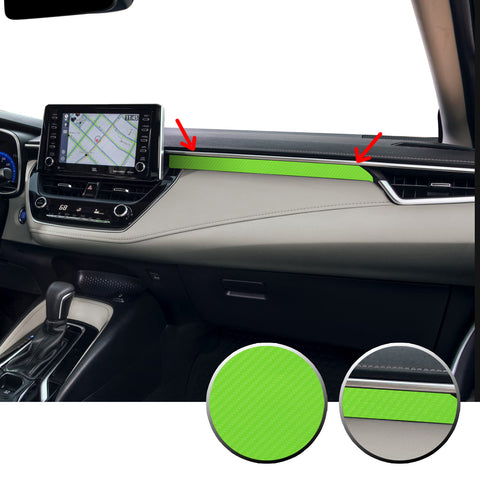 Center Dashboard Accent Vinyl Overlay Trim Precut Compatible with and Fits Corolla Toyota 2020