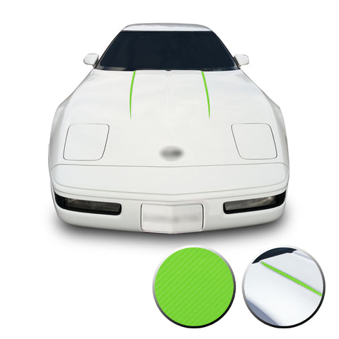 Hood Spears Graphic Overlay Pre Cut Vinyl Decal Compatible with Chevrolet Corvette C4 1984-1996