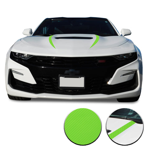Front Hood Spear Vinyl Wrap Decal Sticker Cover Protector Compatible with and fits Camaro 2019 2020