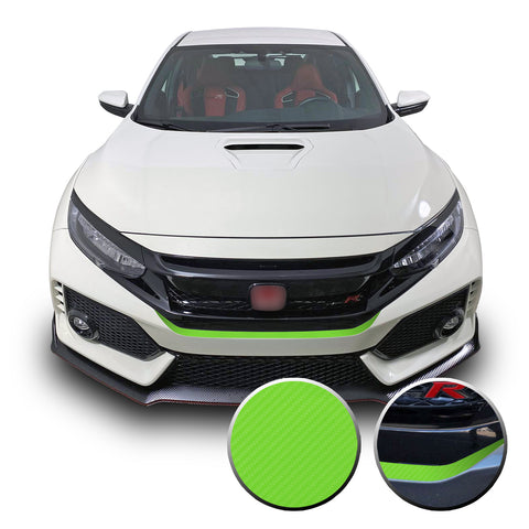 Front Bumper Fangs Accent Vinyl Wrap Compatible with Honda Civic Sedan, Coupe, SI, Hatchback, Type R 2016-2020