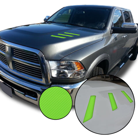 Front Hood Grille Stripe Insert Overlay Vinyl Decal Compatible with and Fits Dodge Ram 2010-2018