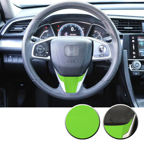 Steering Wheel Lower Overlay Decal Compatible With and Fits Honda Civic 2016-2020