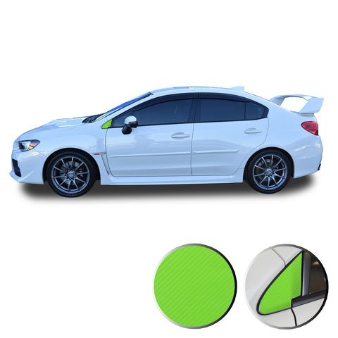 Quarter Window Trim Decal Overlay Wrap Compatible with and Fits WRX STi 2015-2020