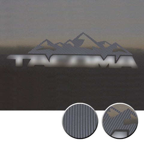 2x Door Badge Emblem Mountain Vinyl Decals Overlay Compatible with Toyota Tacoma 2016-2020