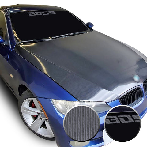 "23"" x 2.3"" Boss Racing Performance Windshield Universal Overlay Pre Cut Graphic Vinyl Decal"