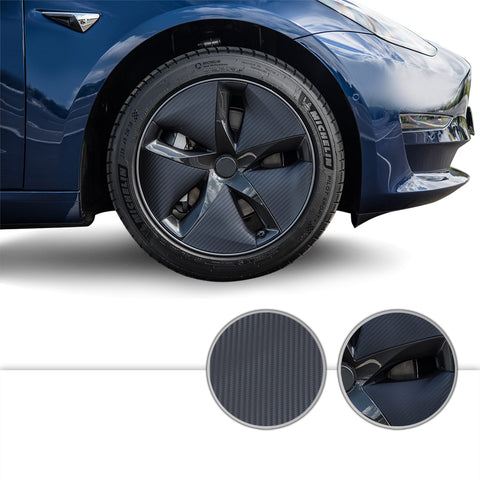 Aero Wheel Precut Vinyl Wrap Graphic Overlay Kit Decal Compatible with and Fits Tesla Model 3 2017-2020
