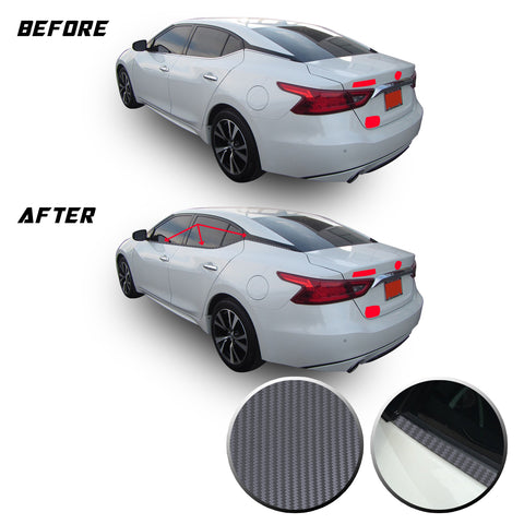 Chrome Delete Vinyl Blackout Kit Overlays for 2016-20 Nissan Maxima Window Trim