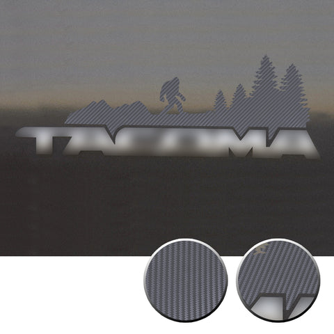 2x Door Badge Emblem Bigfoot Vinyl Decals Overlay Compatible with Toyota Tacoma 2016-2020