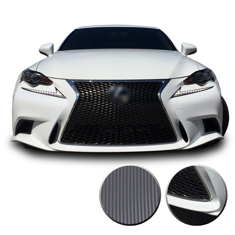 Front Grille Pinstripe Accent Vinyl Decal Overlay Wrap Compatible with Lexus IS200t IS250 IS300 IS F Sport 2014-2016
