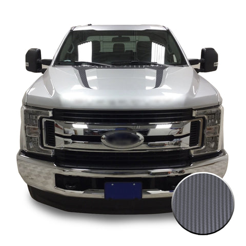 Hood Spears Stripes Vinyl Decal Overlay Wrap Trim Compatible with and Fits Super Duty F250 F350 F450 2017-2019