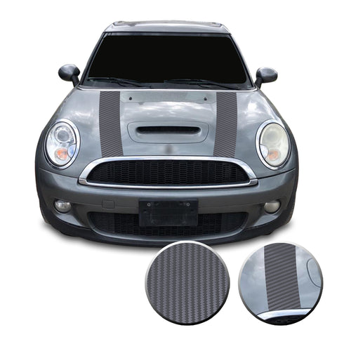Hood Racking Stripes Pre Cut Vinyl Decal Compatible with Mini Cooper 2007-2013