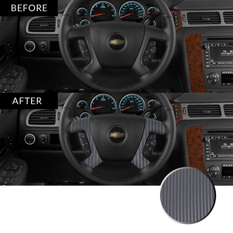 Steering Wheel Spoke Decal Overlay Trim Compatible with and Fits Chevrolet, GMC, Cadillac