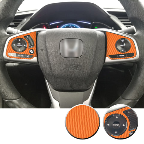 Steering Wheel Side Control Decals Compatible With and Fits Honda Civic 2016-2020