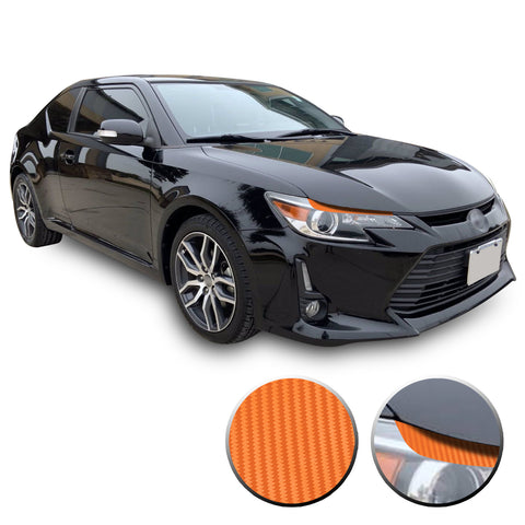 Headlight Eyelid Eyebrow Graphic Overlay Vinyl Decal Compatible with Scion tC 2014-2016