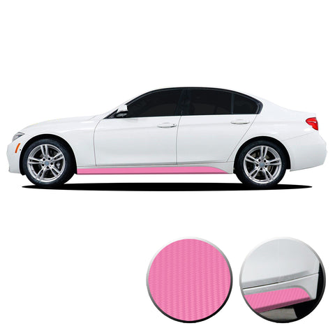Lower Panel Side Skirt Accent Vinyl Overlay Compatible with BMW 3 Series F30 F31 E90 E91 2007-2019