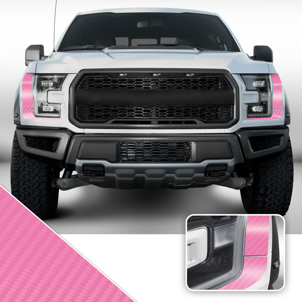 Headlight Accent Decal Overlay Trim Compatible with and Fits Raptor F-150 2018+