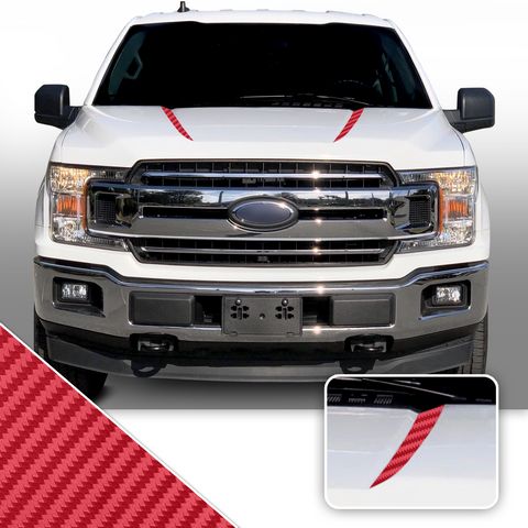 Inner Hood Spears Overlay Decal Trim Compatible with and Fits F150 + Raptor 2015-2020