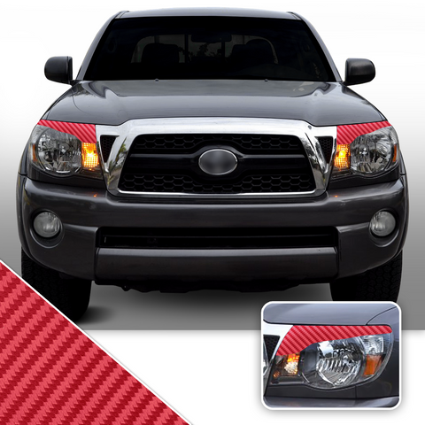 Headlight Eyelid Accent Vinyl Decal Overlay Wrap Compatible with Toyota Tacoma 2005-2011