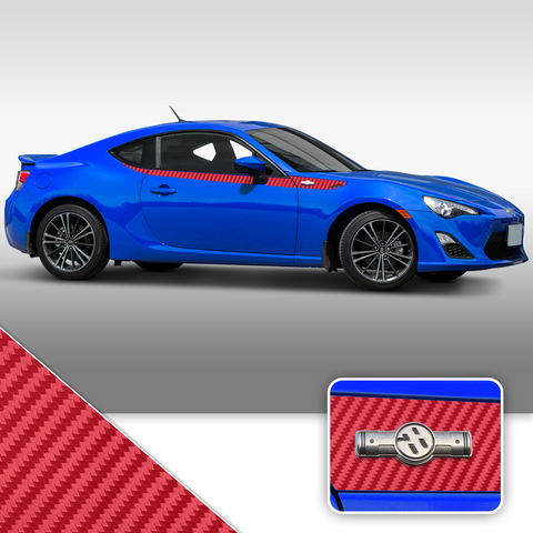 Side Body Stripe Accent Vinyl Graphic Overlay Wrap Compatible with Scion FR-S 2013-2016