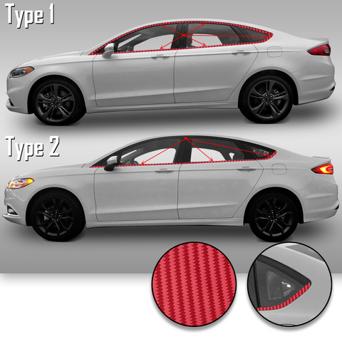 Window Trim Chrome Delete Precut Vinyl Wrap Overlay Kit Compatible with and Fits Fusion 2013-2019