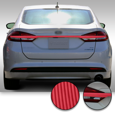Trunk Trim Rear Chrome Delete Precut Vinyl Wrap Overlay Kit Compatible with and Fits Fusion 2017-2019