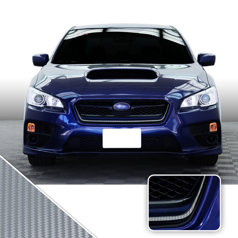 Front Grille Pinstripe Vinyl Decal Overlay Wrap Trim Compatible with and Fits WRX STi 2015-2017