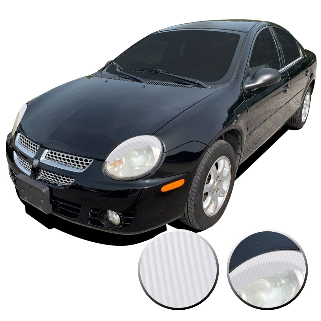 Headlight Eyelid Eyebrow Overlay Vinyl Decal Compatible with Dodge Neon SRT-4 R/T SXT 2003 2004 2005
