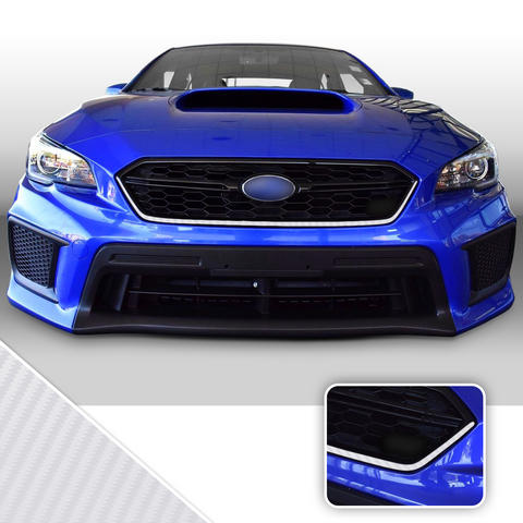 Front Grille Pinstripe Trim Vinyl Decal Compatible With and Fits 2018-2020 Subaru WRX STi