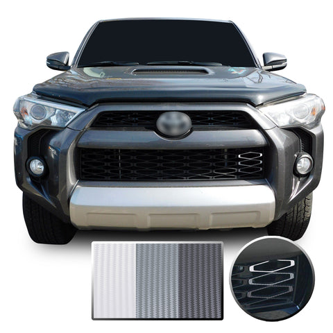 Front Grille 3 Color Vinyl Wrap Decal Overlay Compatible with Toyota 4Runner 2014-2020
