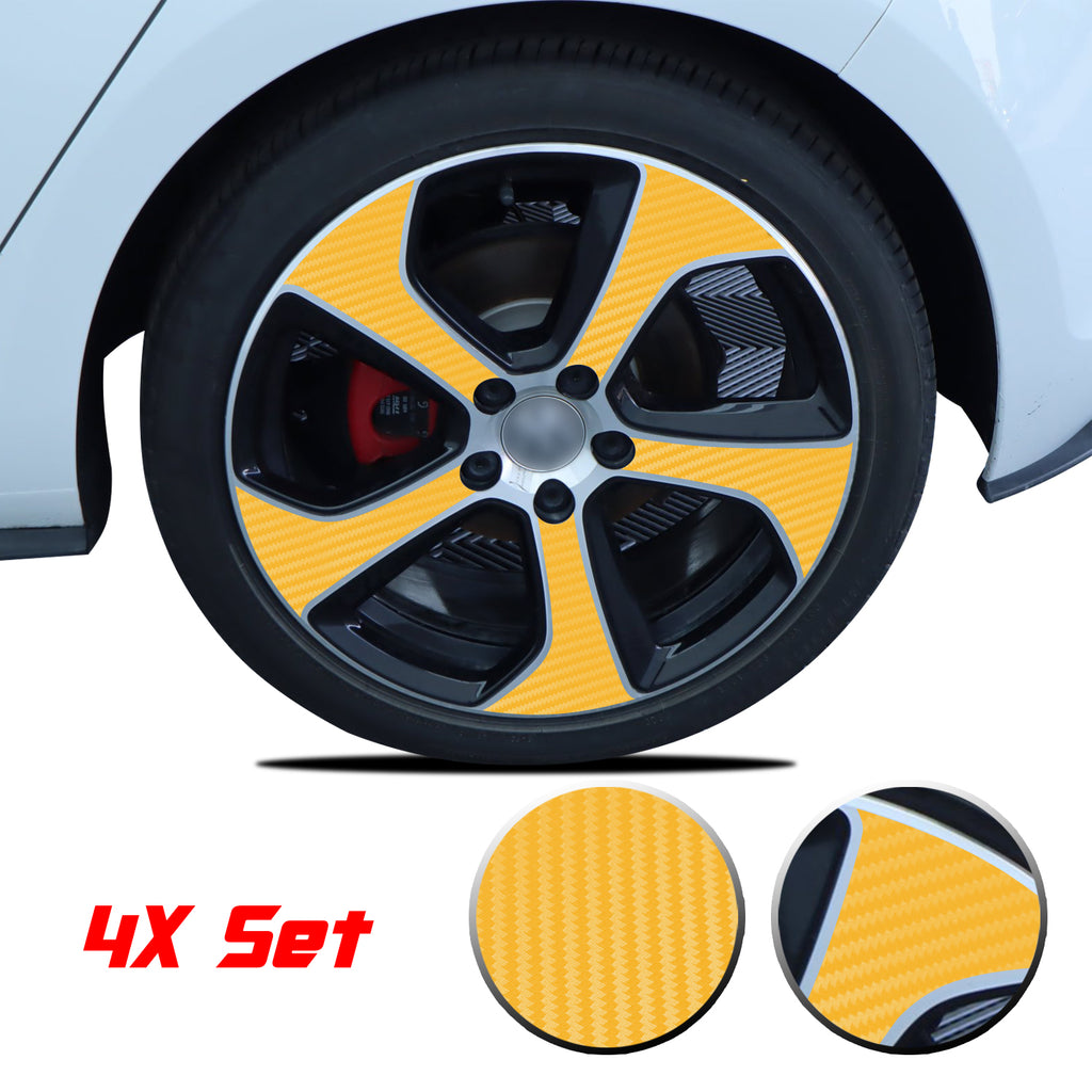 Wheel Rim Overlay Graphic Vinyl Decal Compatible with Volkswagen MK7 GTi 2014-2020