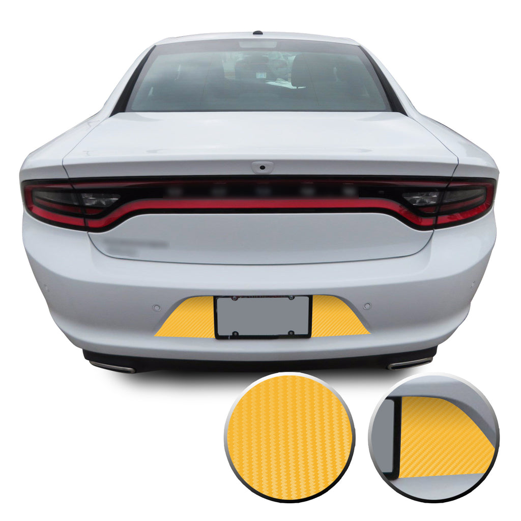 Rear License Plate Blackout / Accent Vinyl Graphic for Dodge Charger 2015+