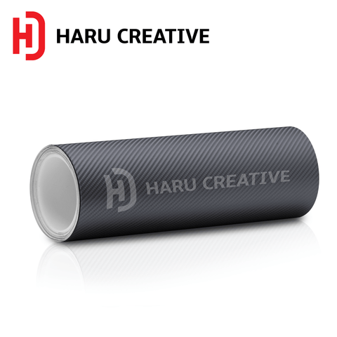 Gunmetal (Dark Grey) 4D Carbon Fiber Vinyl Wrap - Adhesive Decal Film Sheet Roll - Haru Creative 4D Carbon Fiber