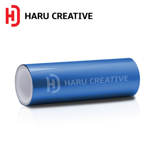 Blue 5D Carbon Fiber Vinyl Wrap - Adhesive Decal Film Sheet Roll - Haru Creative 5D Carbon Fiber