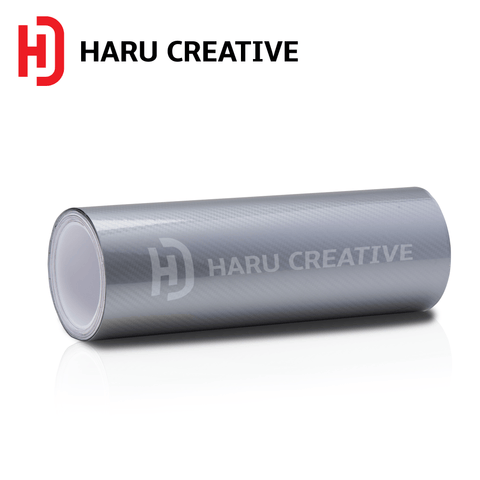 Silver 5D Carbon Fiber Vinyl Wrap - Adhesive Decal Film Sheet Roll - Haru Creative 5D Carbon Fiber