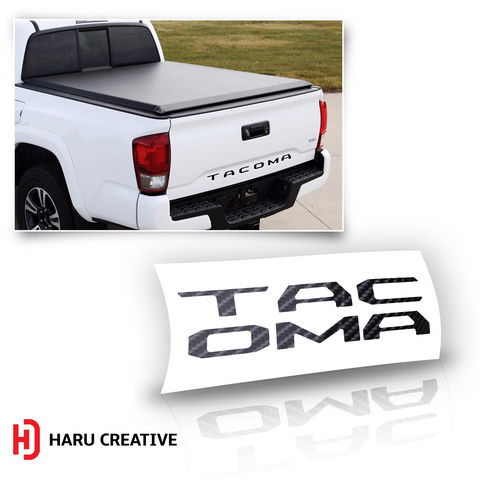 2016 - 2018 Toyota Tacoma Tailgate Letter Insert - Haru Creative Decals