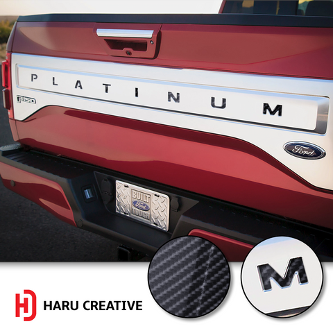 2015-17 Ford Platinum Tailgate Letter Insert Overlay Decal Sticker - Haru Creative Decals