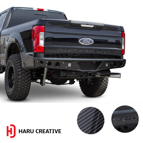 Ford Super Duty F250 F350 F450 (2017-2018) Tailgate Letter Insert Overlay Vinyl Decal - Haru Creative Decals