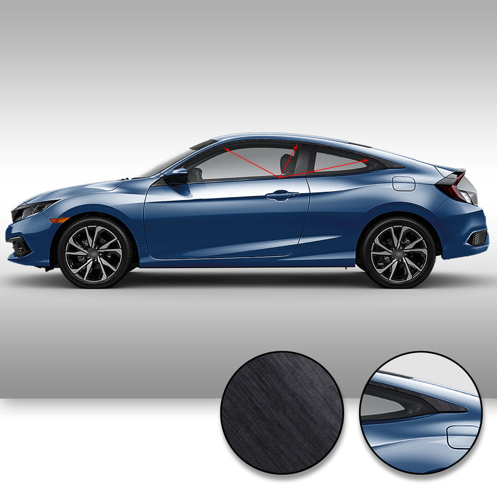 Civic Coupe Window Chrome Delete 2016-2020 - Black