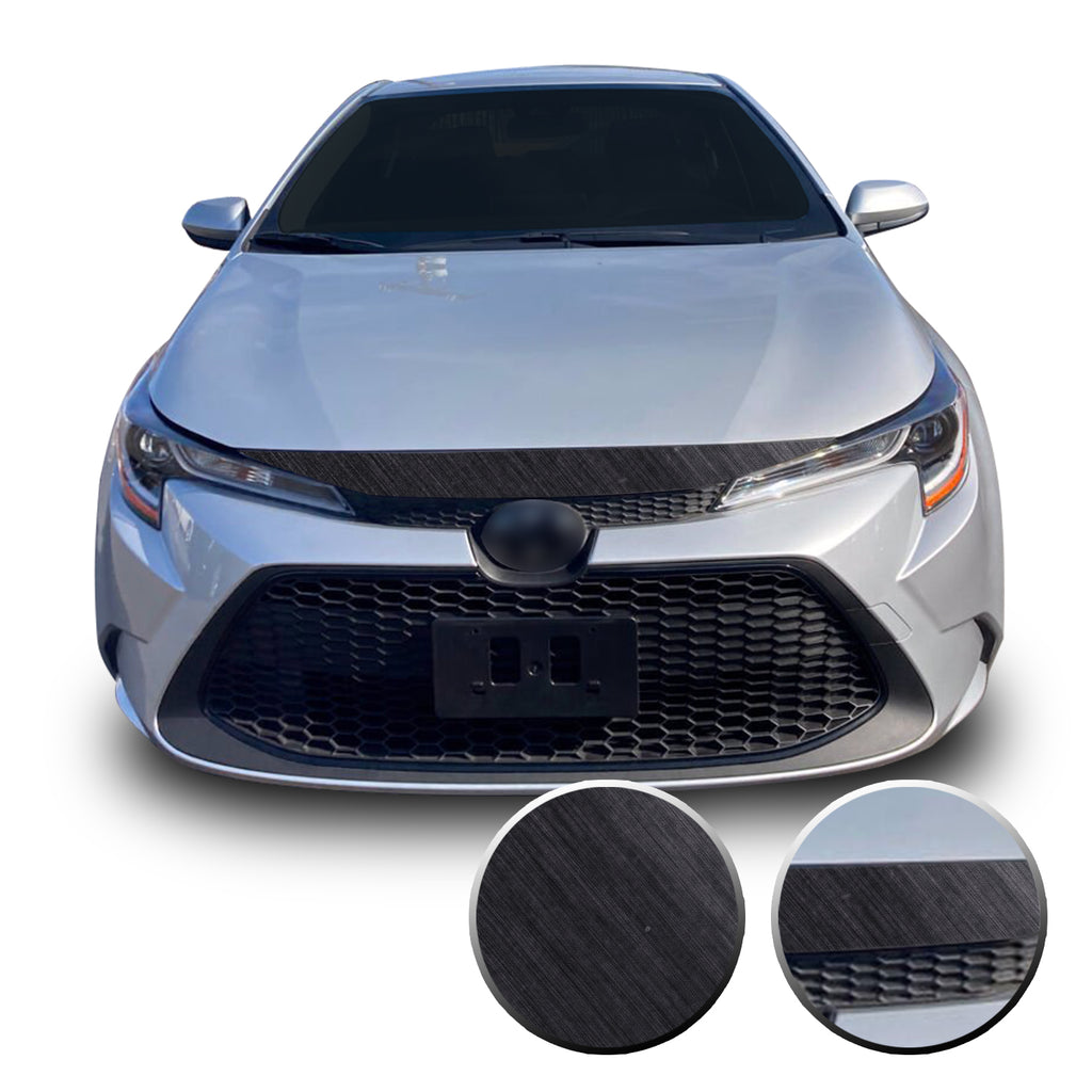 Hood Front Bumper Blackout Decal Vinyl Wrap Kit Compatible with Toyota Corolla LE XLE 2020 2021