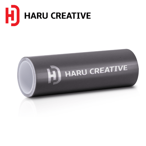 Grey Brushed Aluminum Vinyl Wrap - Adhesive Decal Film Sheet Roll - Haru Creative Brushed Aluminum