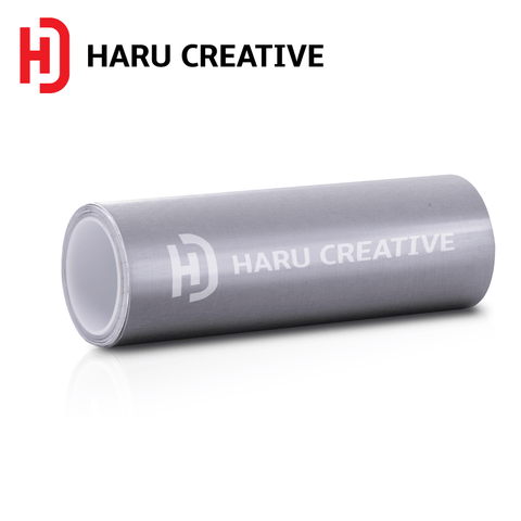 Silver Brushed Aluminum Vinyl Wrap - Adhesive Decal Film Sheet Roll - Haru Creative Brushed Aluminum