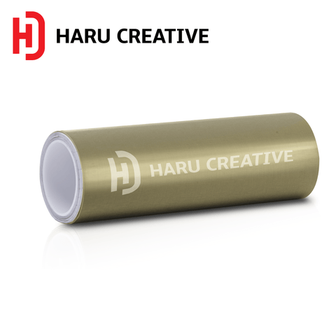 Sand Copper Brushed Aluminum Vinyl Wrap - Adhesive Decal Film Sheet Roll - Haru Creative Brushed Aluminum