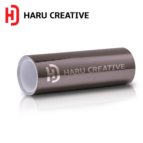 Dark Black Chrome Vinyl Wrap - Adhesive Decal Film Sheet Roll - Haru Creative Chrome
