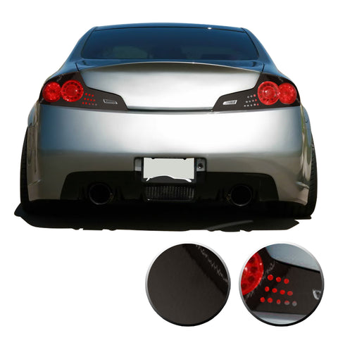 Taillight Overlay Vinyl Decal Precut Trim Compatible with and Fits Infiniti G35 GTR Coupe 2006 2007 - Black