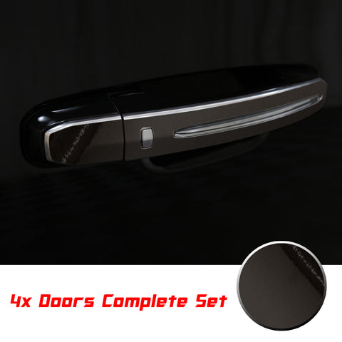 Door Handle Chrome Delete Vinyl Blackout Trim Overlay Kit Compatible with Cadillac Escalade 2015-2020